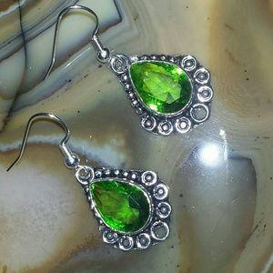 NEW Peridot Earring in 925 Silver